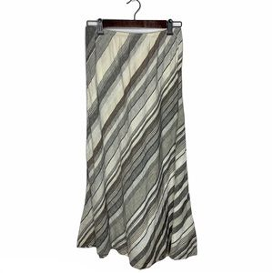 Flax Lagenlook Striped 100% Linen Maxi Skirt